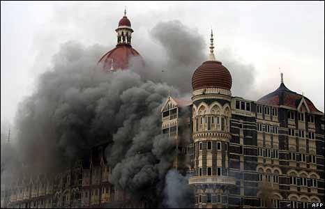 Mumbai Attack: Buring Mehal