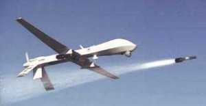 US drone Firing Hellfire missile